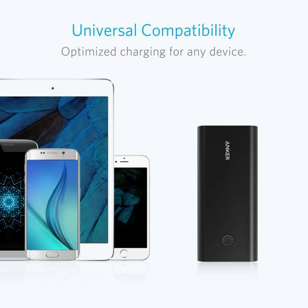 Image of   Anker PowerCore+ 26800 mAh powerbank Quick Charge 3.0 sort