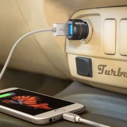 RAVPower 2x USB biloplader m. op til 24W opladning