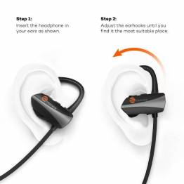 TaoTronics Bluetooth trådløse in-ear Sport HeadPhones m. bøjle