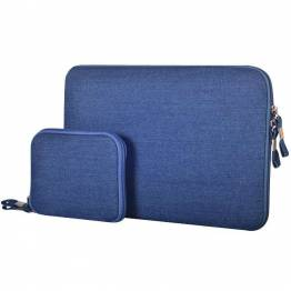 Premium Macbook Sleeve I blå til Mac's i 15""
