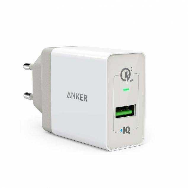 Image of   Anker PowerPort+ 1 med Quick Charge 3.0 hvid