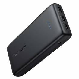 RAVPower Ace Series 32 000 mAh powerbank med 3 x USB i Black