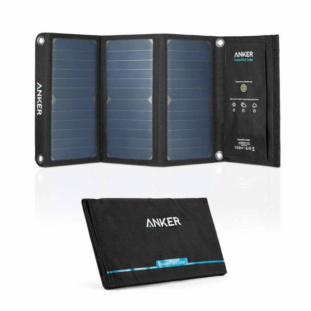 Image of Anker PowerPort solcelle panel 21W 2-ports Sort