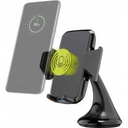 Goobay universel iPhone bil holder med sugekop og Qi