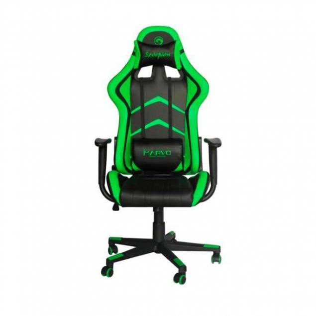 Image of   Marvo Gaming stol CH107 sort/grøn