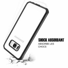 ITSKINS bumper cover med klar bagside til Samsung Galay S8 Sort Pianolak
