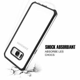 ITSKINS bumper cover med klar bagside til Samsung Galay S8 Sølv