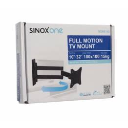 """Sinox One SOB0105 Tv vægbeslag. Sort TV størrelse: 13""""- 26"""""""