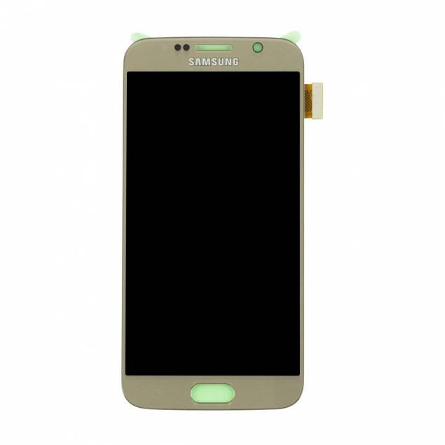 Image of   Samsung Galaxy S6 skærm guld. Original