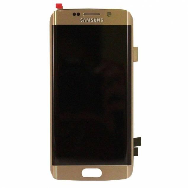 Image of   Samsung Galaxy S6 Edge skærm guld. Original