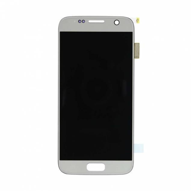 Image of   Samsung Galaxy S7 skærm hvid. Semi original