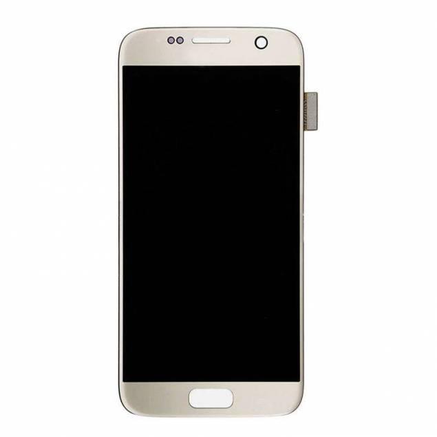 Image of   Samsung Galaxy S7 skærm sølv. Original
