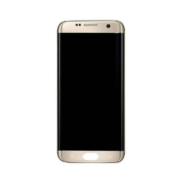 Image of   Samsung Galaxy S7 Edge skærm guld. Original