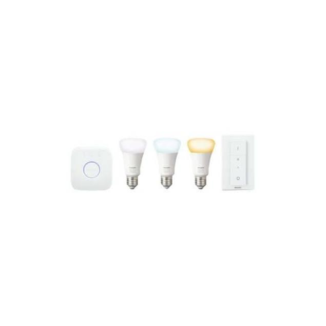 Philips Hue A60 E27 trådløst startsæt til hvidt og farvet stemningslys til Homekit