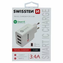 Swissten 4 USB oplader 25W