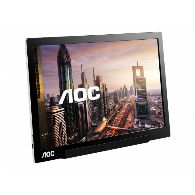 "Image of   AOC 15,6"" rejse skærm 1080p m. USB-C"