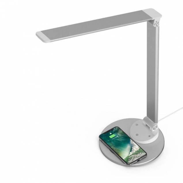 TaoTronics skrivebordslampe sort med trådløs oplader