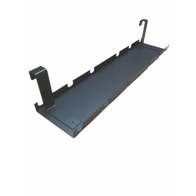 Nordic Office - Kabel bakke i sort metal passer til alle stel