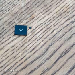 W knap til Macbook