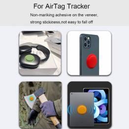 Selvklæbende AirTag holder i silikone i sort