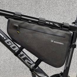 Wozinsky cykeltaske til rammen - Mørkegrå