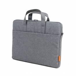 """POFOKO 13"""" MacBook taske med skulderrem og ekstra opladertaske - grå"""