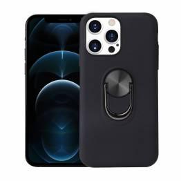 """Smart iPhone 13 cover 6,1"""" med 360° stand og magnet - Sort"""