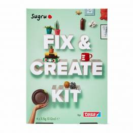 Sugru 'fix det' modellervokslim - Fix & Create Kit med hæfte og 4-pack