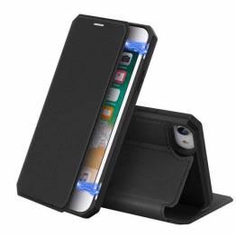 DUX DUCIS iPhone 7, 8 og SE 2020 cover med kortplads og klap - sort