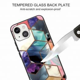 "iPhone 13 cover 6,1"" med marmor mønster - Multifarvet"
