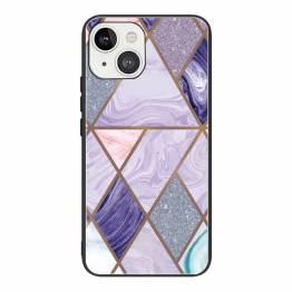 "iPhone 13 cover 6,1"" med marmor mønster - Lilla"