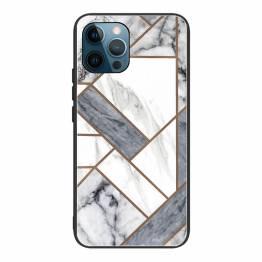 "iPhone 13 Pro cover 6,1"" med marmor mønster - Hvid/grå"