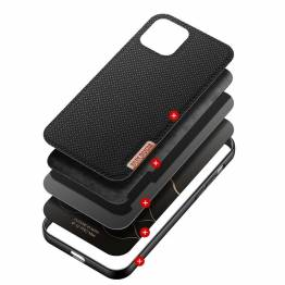 """DUX DUCIS Fino iPhone 12 Pro Max 6,7"""" cover med vævet overflade - sort"""