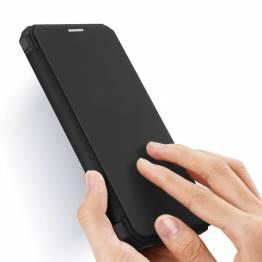 """DUX DUCIS iPhone 12 / 12 Pro 6,1"""" cover med kortplads og klap - Sort"""