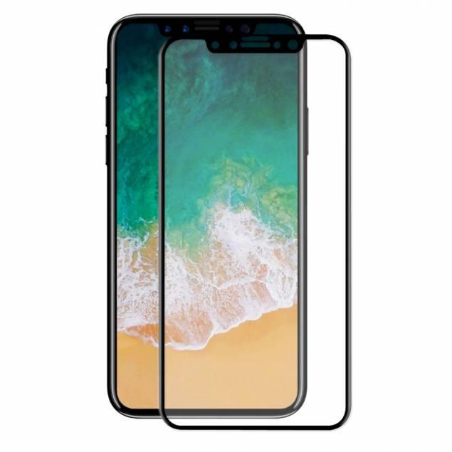 Panser glas til iPhone X med sort kant