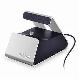 Avantree Micro USB Charge Dock i sølv/sort
