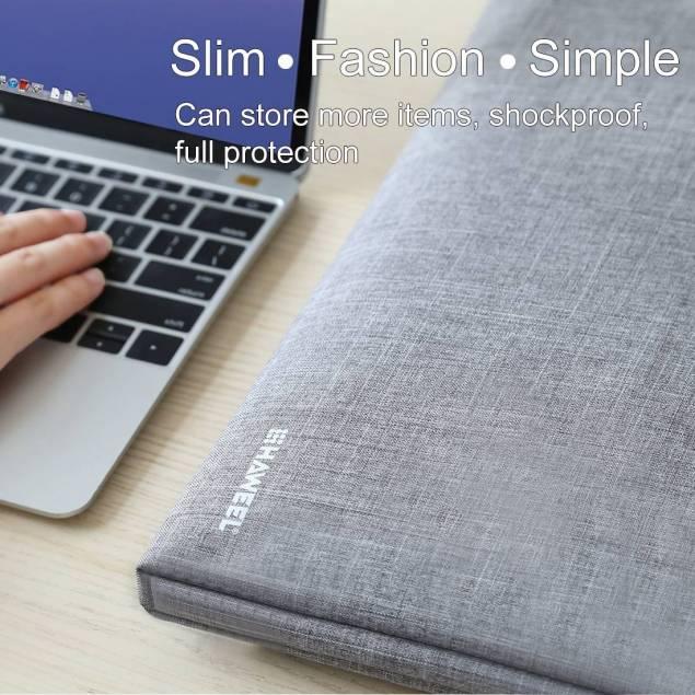 """Image of   HAWEEL 13,3"""" Zipper håndholdt Macbook sleeve grå"""